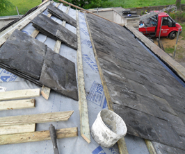 blue slate roofing